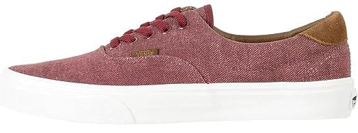 Vans U Era 59 C & L Maroon White Mens Skate Trainers Shoes-8