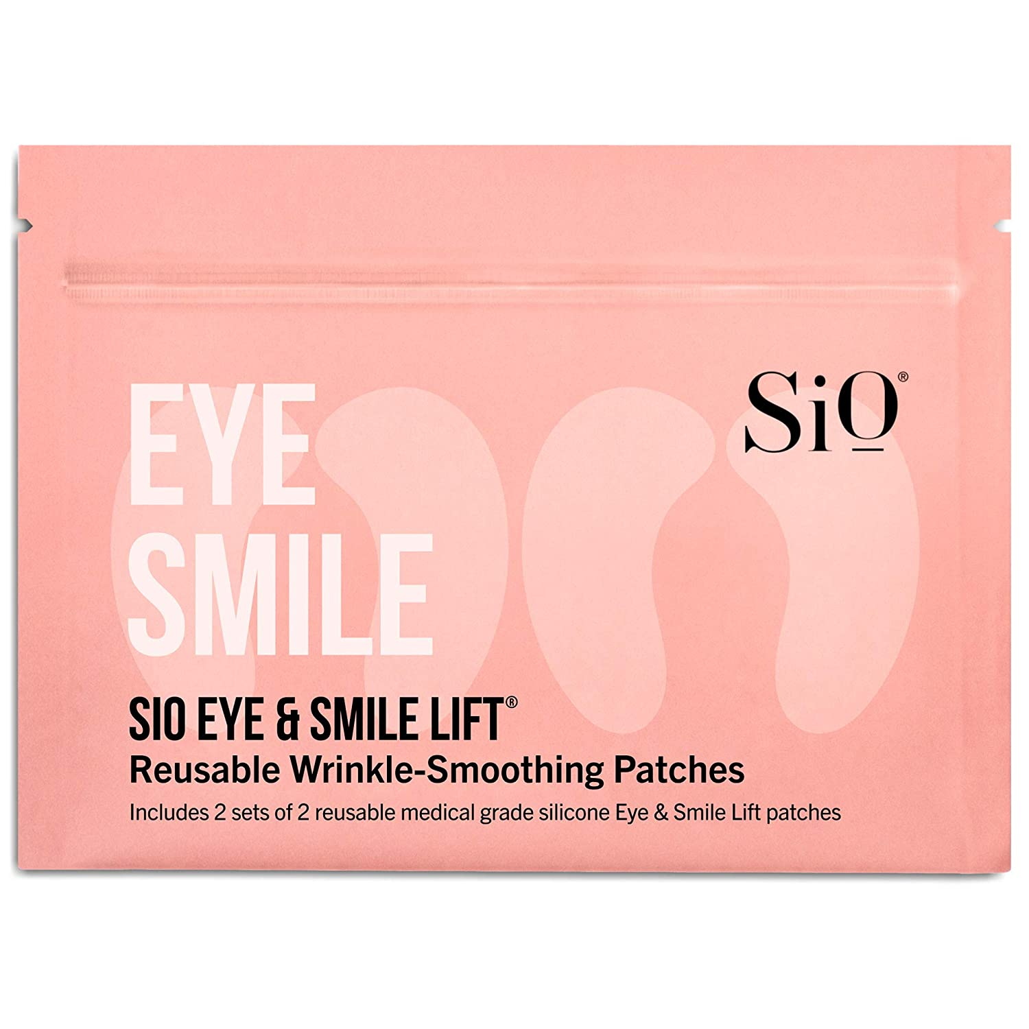 SiO Beauty Eye and Smile Lift Anti-Wrinkle Patches 4 Week Supply - Overnight Under Eye Mask Pads For Dark Circles - Silicone Skin Treatment For Wrinkles Fine Lines