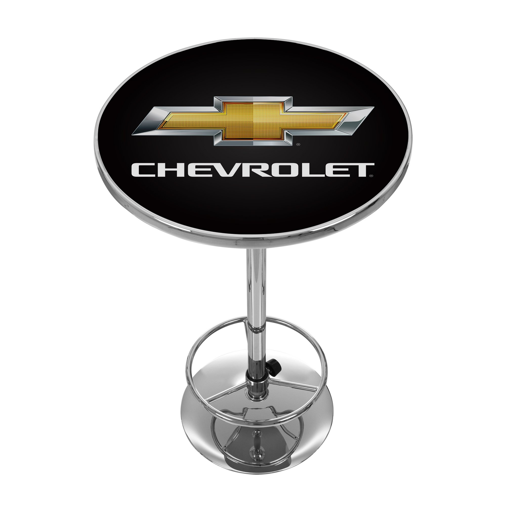 Chevrolet Chrome Pub Table by Trademark Gameroom