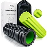 Tryiins Foam Rollers for Muscles Trigger Foam Roller for Back and Neck and Legs Back Roller 2 in 1 Foam Rollers Rollers for Physical Therapy and Balance Exercise