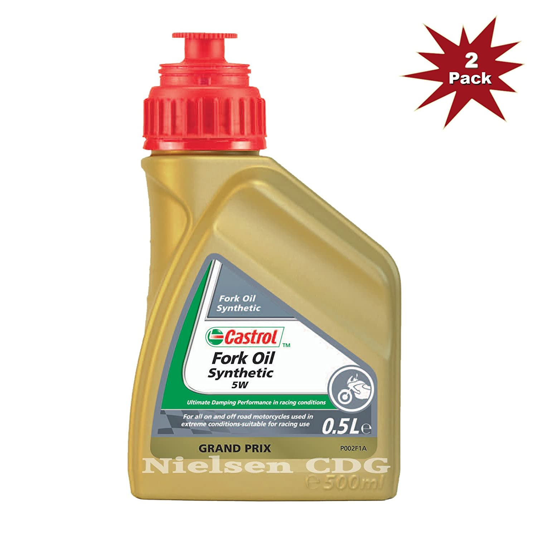 Castrol 5w Fork Oil Fully Synthetic 2x500ml = 1 Litre Nielsen CDG CAS-1791-7199-2