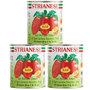 Strianese San Marzano Tomatoes, DOP, 28 oz (Pack of 3)
