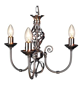 Pendant with Bulbs. 3 Light Classic Knot Twist Ceiling Light
