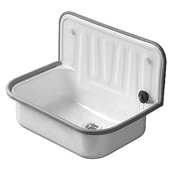 top ueacutevier en acier blanc x mm avec bordure with evier email blanc ancien. Black Bedroom Furniture Sets. Home Design Ideas
