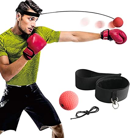 Boxing Training Ball MN Punch Exercise Fight  Reflex Speed Head Band Speedball