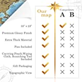 The Ultimate Scratch Off World Map Poster Bundle