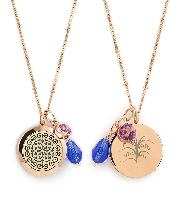 Amazoncom 1 Rose Gold Essential Oil Diffuser Necklace