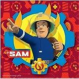 Amscan International–9902177bombero Sam servilletas 33cm