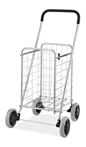 Whitmor Utility Durable Folding Design for Easy Storage Shopping Cart