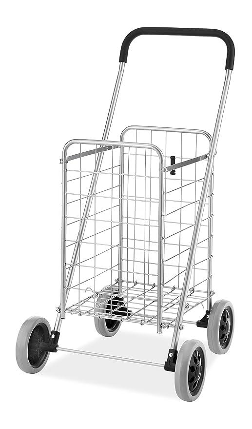 whitmor utility durable folding design for easy storage shopping cart cartagena cart #6
