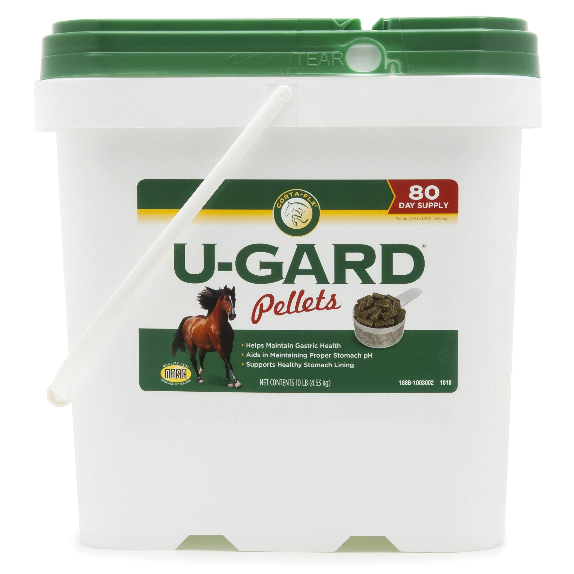 Corta-Flx U-Gard Pellets 10 lb Equine Stomach Supplement by Manna Pro