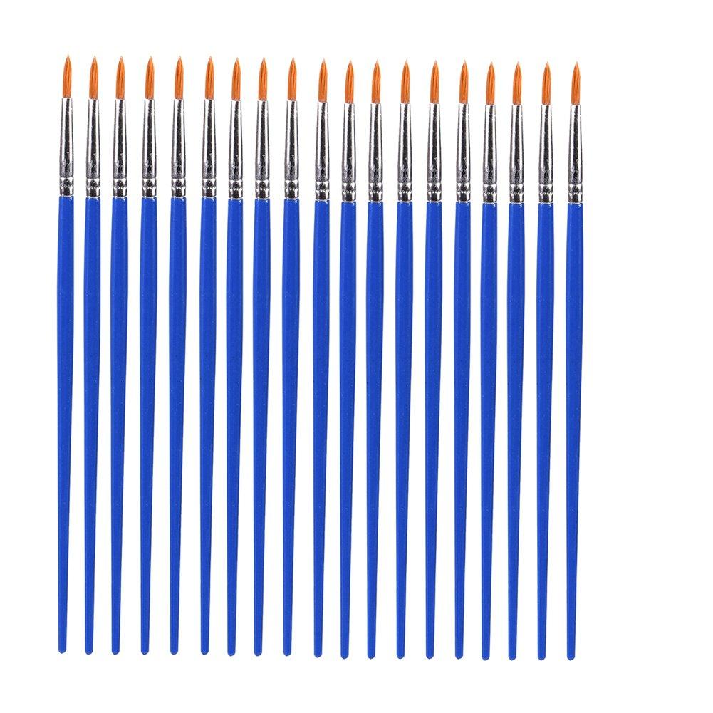Happysea 30/Pcs K/ünstler Pinsel Rund Spitz Spitze Nylon Haar Wasser Farbe Malerei Stifte