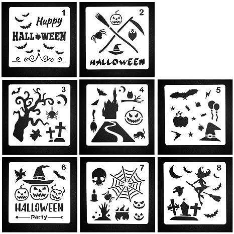 Joyibay 8pcs Gabarit Pour Halloween Bricolage Gabarit De