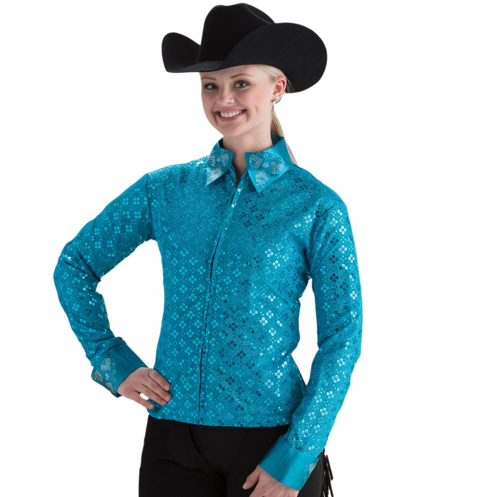 Turquoise Sparkle Western Show Jacket Royal Highness