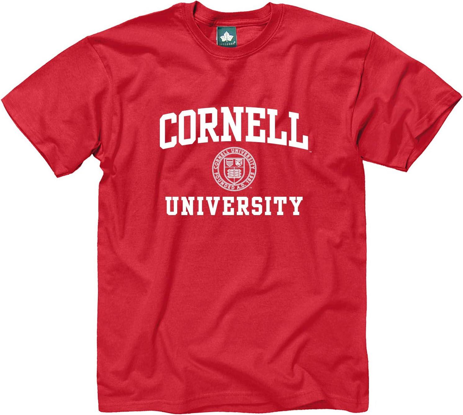 Cornell University camiseta por ivysport – Crest Logo, 100% algodón, rojo, manga corta camiseta - 1761-M, Rojo: Amazon.es: Deportes y aire libre