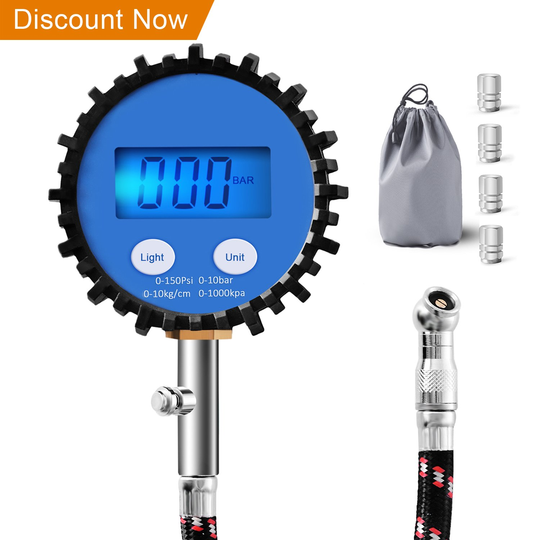 Manómetro de Neumáticos,Digital manometro presion neumaticos 0.1 - 150PSI