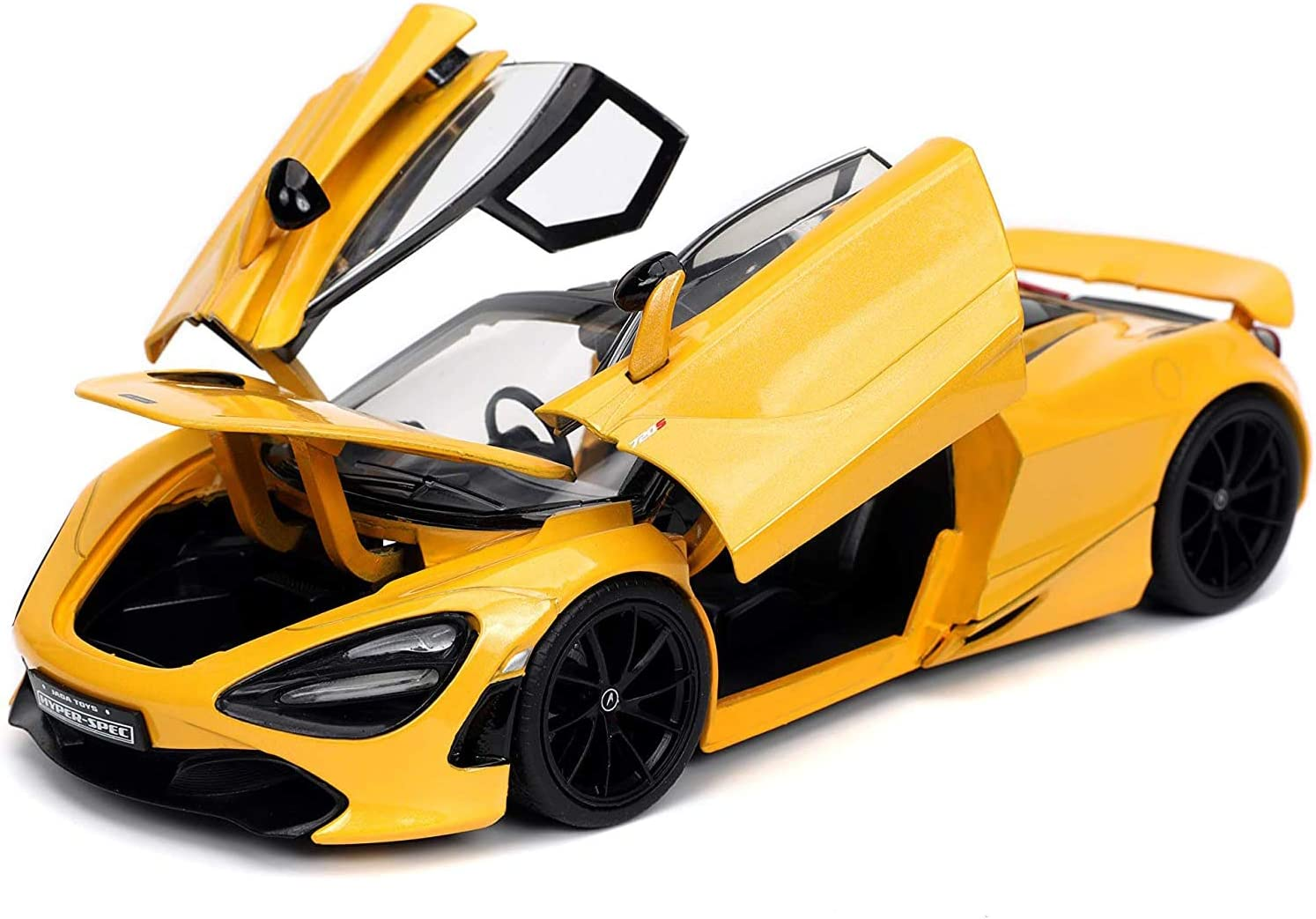 Jada Toys Hyperspec 1:24 Mclaren 720S Die-cast Car Yellow, Toys for Kids and Adults