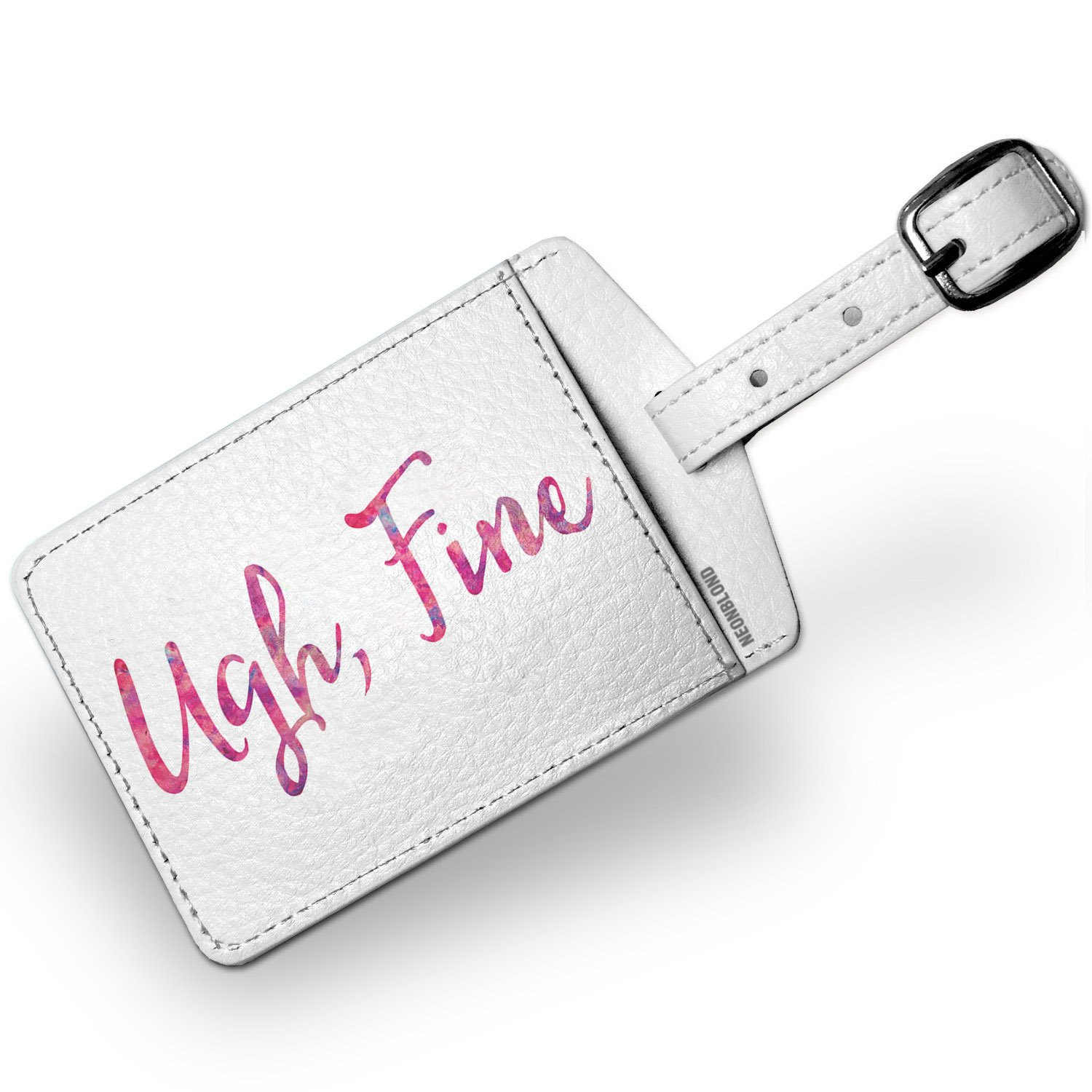 Luggage Tag Ugh, Fine Valentine's Day Pink and Purple Watercolor - NEONBLOND