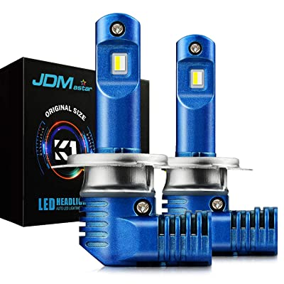 JDM ASTAR K1 1:1 Design H7 All-in-One Bright White Light Output Up to 60% More Vision LED Headlight Bulbs: Automotive