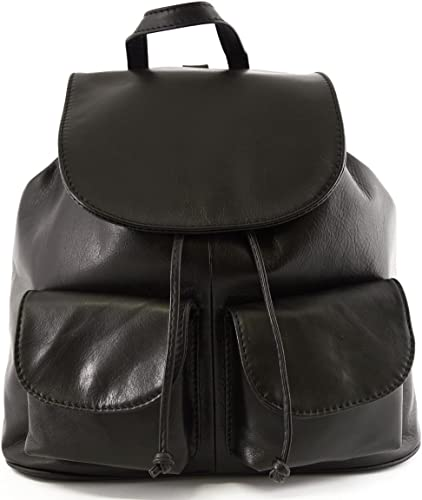 Woman Leather Backpack Color Black