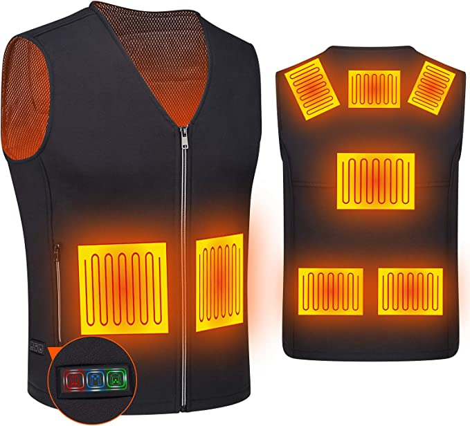 Amazon.com: Heated Vest for Women and Men, DOACE Smart Electric Heating Vest Rechargeable, Warming heated Jacket, Battery Not Included: Clothing
