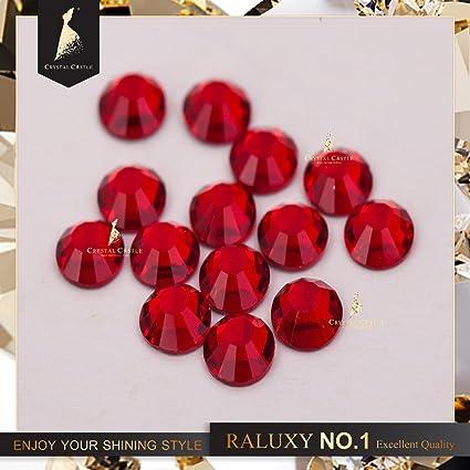Generic ss3 1440pcs   Crystal Castle glass flatback rhinestone red siam non  hot fix crystal none glue no hotfix strass rhinestones for nail Art   Amazon.in  ... 7625c0a56b56