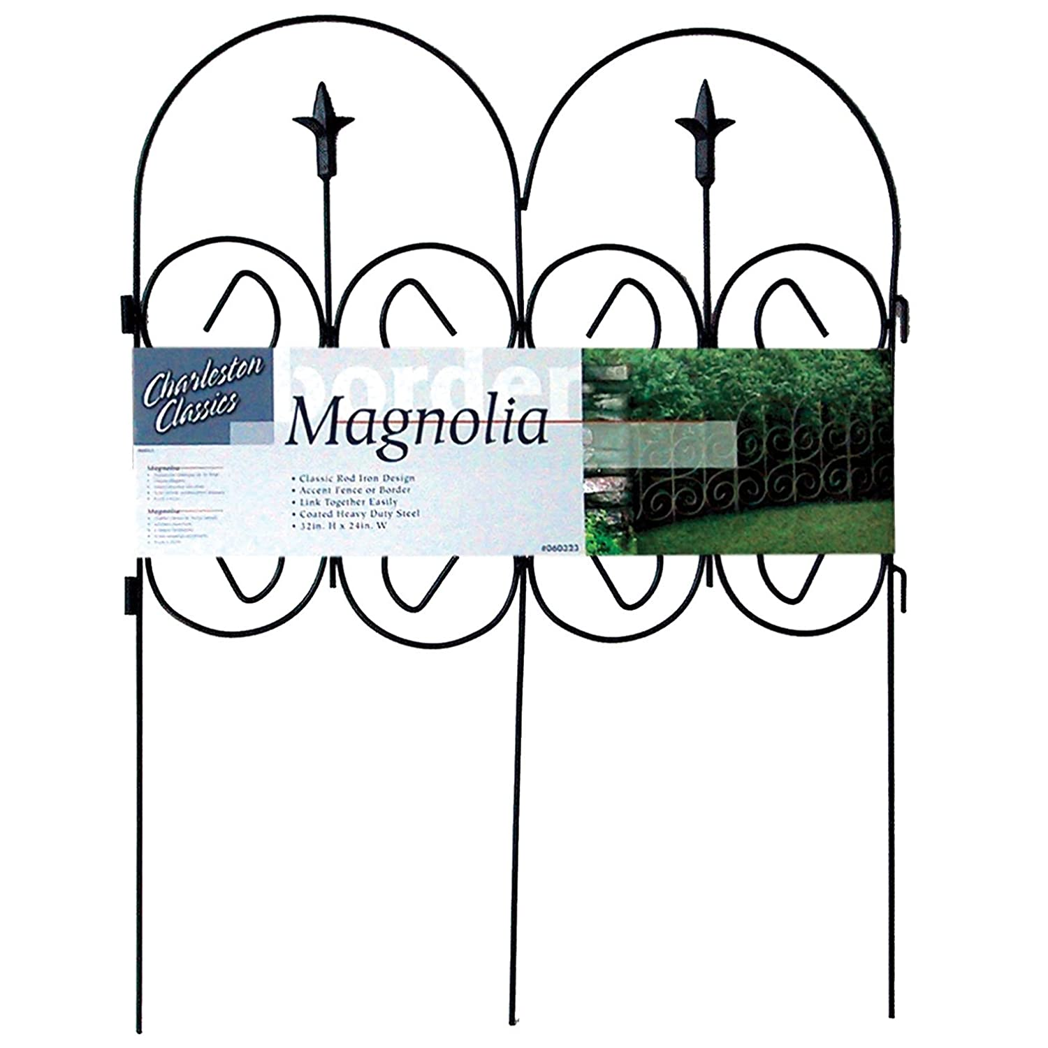Origin Point Magnolia Classic Decorative Steel Landscape Border Fence Section