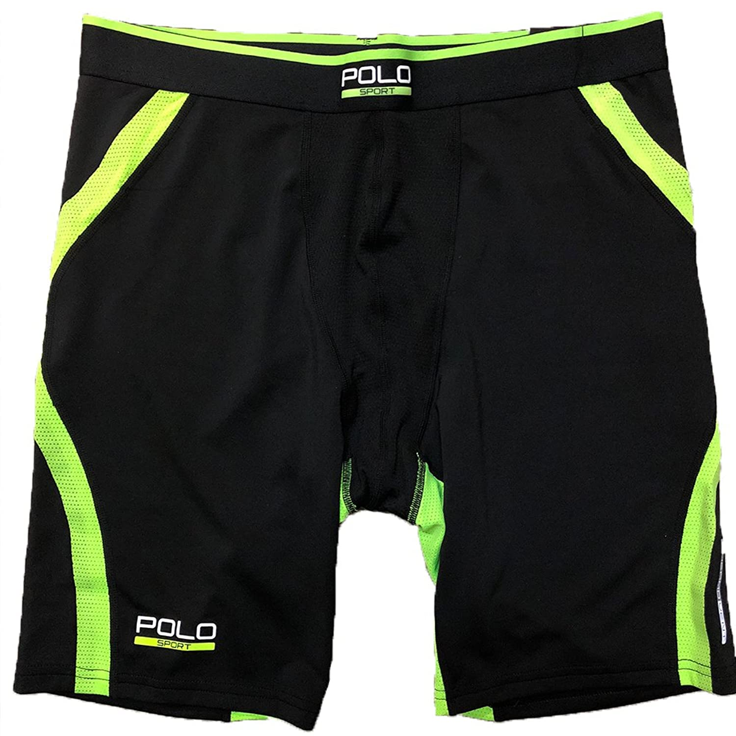 2fd561ef4f ... coupon code for polo sport ralph lauren mens dark black green stretch  compression shorts 312df c883f