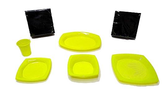 elegi Platos de Plástico Desechables y Reciclables. Pack ...