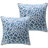 Treely Decorative Pillow Covers 18x18 Inches Diamond Chenille Throw Pillow Covers for Sofa Couch Bedroom Car Pack of 2,Purple
