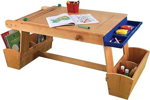 Amazon Com Kidkraft Art Table With Drying Rack And Storage