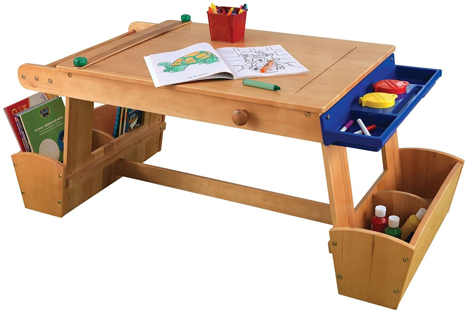 858fd8c96903 Amazon.com  KidKraft Art Table with Drying Rack and Storage  Toys   Games