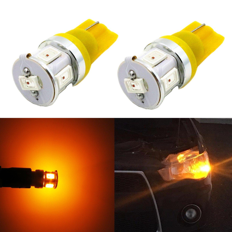 Alla Lighting High Power 5730 SMD T10 Wedge 194 168 2825 W5W LED Light Bulbs (Yellow)