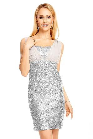 Mayaadi Pailletten-Kleid für Partys Cocktailabende und festliche ...