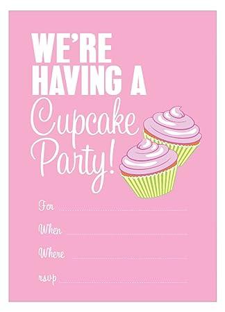 amazon com apartment 2 cards invite107 cupcake party invitations