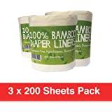 Comfy Solutions Bamboo Nappy Liners Natural and Unbleached Biodegradable Anti-Bacterial Hypoallergenic Alcohol Free Fragrance Free