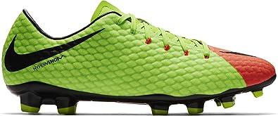 0eb4536af48 Nike Hypervenom Phelon III FG Electric Green/Black/Hyper Orange/Volt Men's  Soccer Shoes