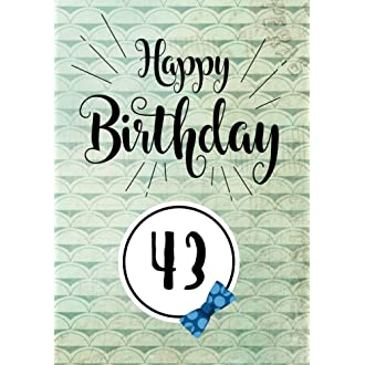 10 Happy Birthday 43 Gifts For Men Journal Notebook Year Old