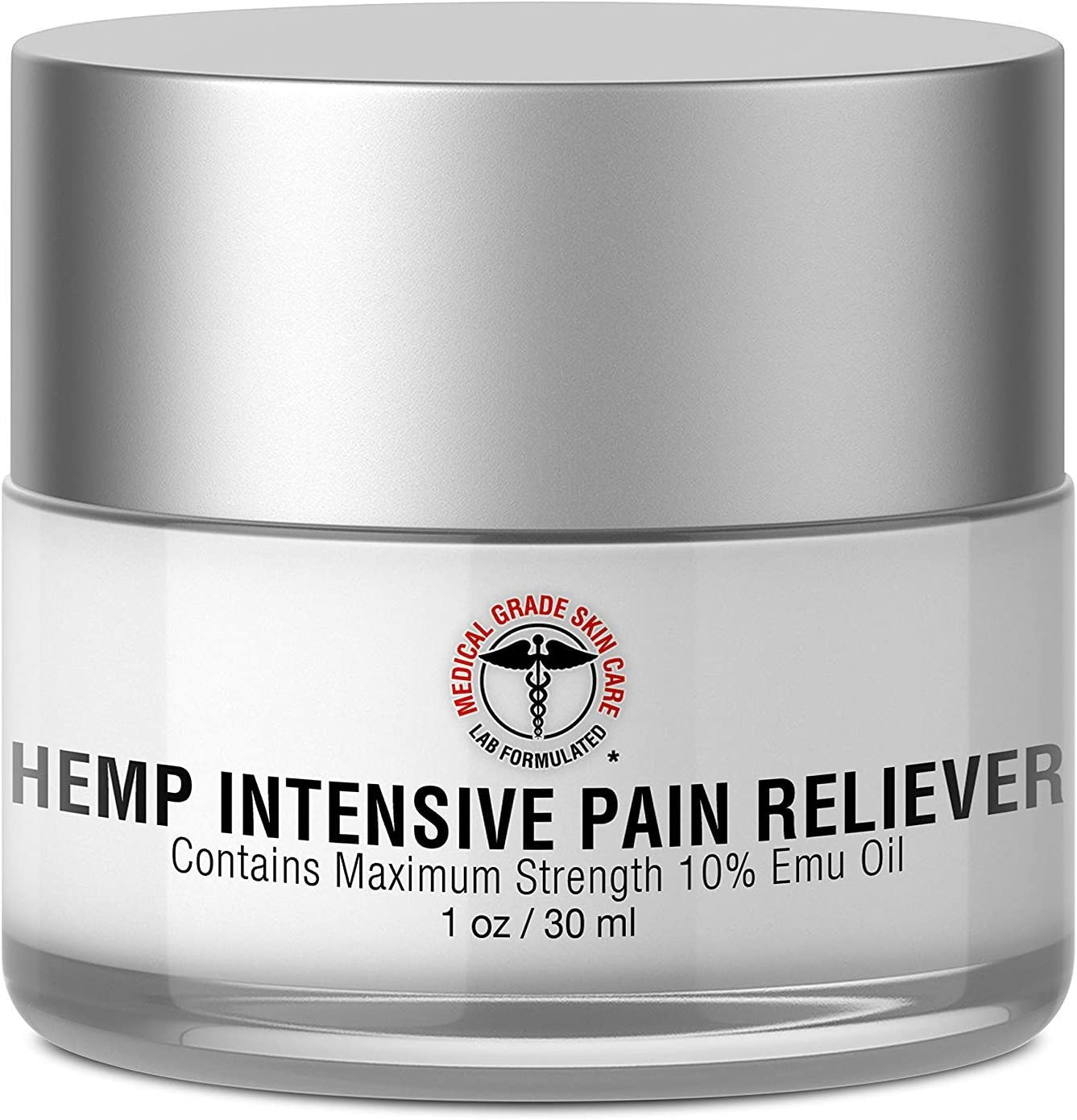 Hemp Cream for Pain Relief - SkinPro Medical Grade Skin Care - Contains Maximum Strength 10% Emu Oil for Potent, Fast-Acting Results
