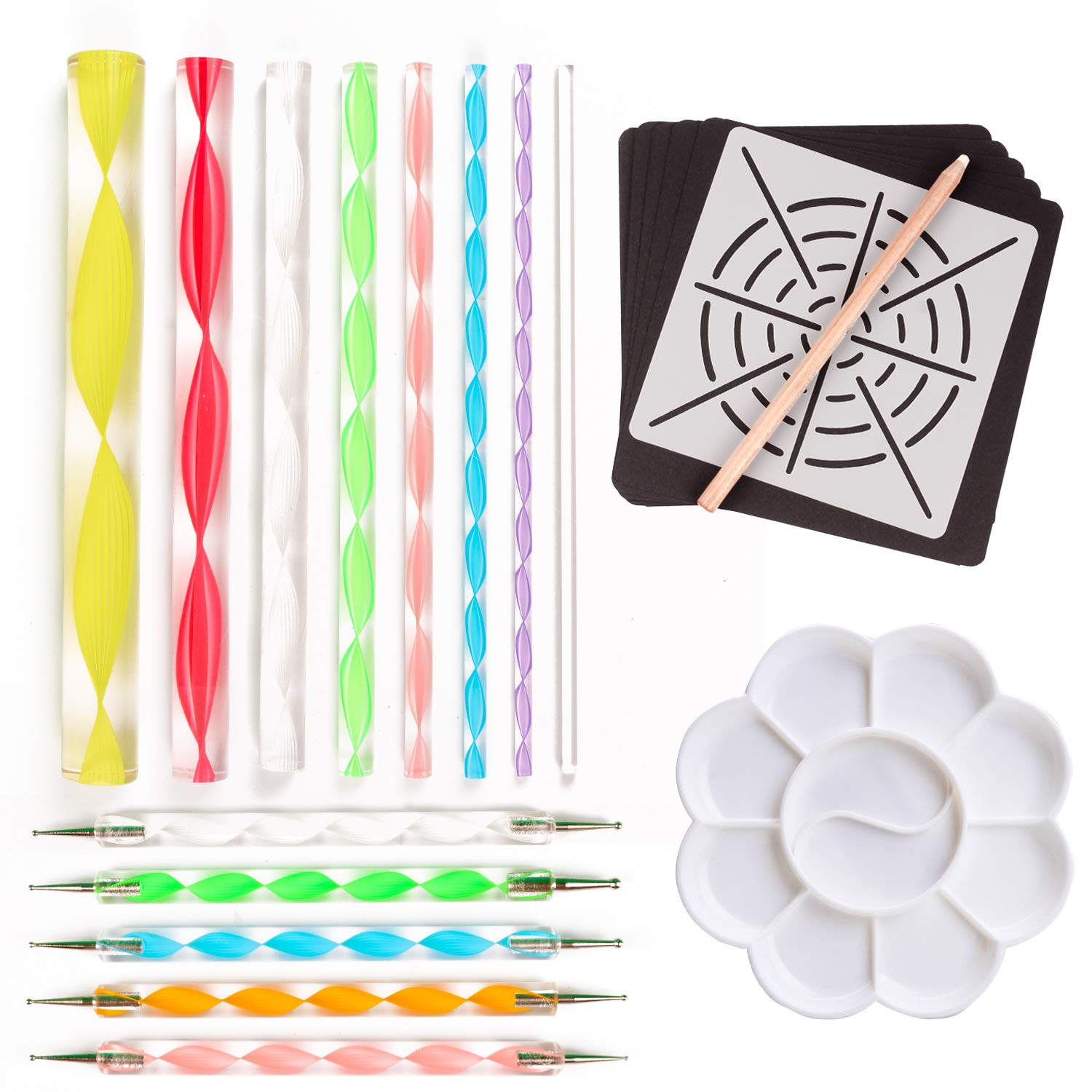 Mandala Dotting Tools Kit - SUNVORE Dotting Tools for Mandala Rock Painting Dot Mandalas Painting, Set of 21