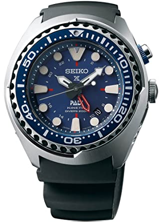 Amazon.com  Seiko SUN065 Special Edition Padi Kinetic GMT Diver ... 85fee9bb10