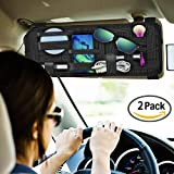 Car Sun Visor Organizer,KEKU 2 Packs Car Visor