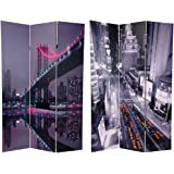 Oriental Furniture 6 ft. Tall New York State of Mind Room Divider