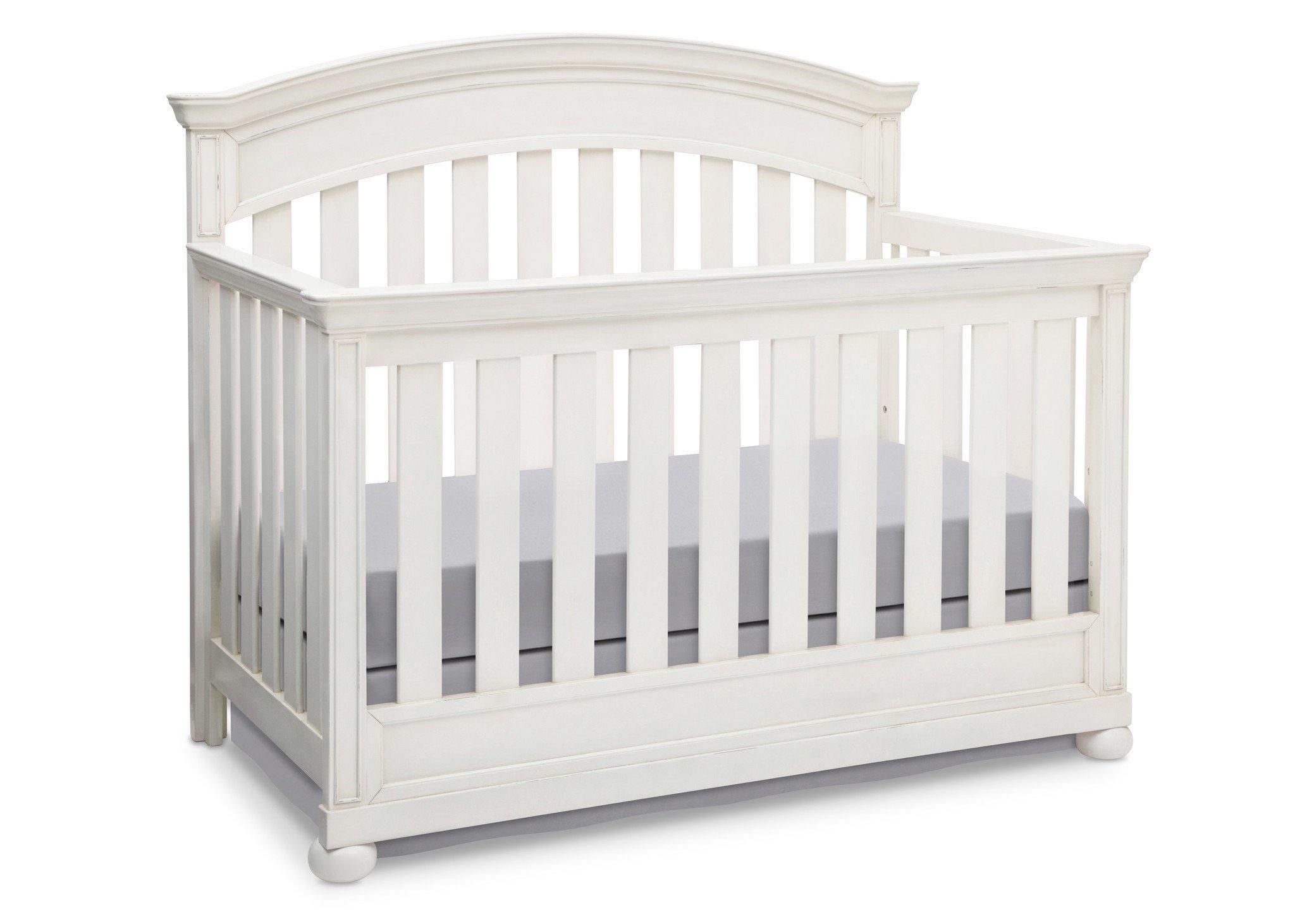 Full Size Conversion Kit Bed Rails for Simmons/Delta Childrens Castille Crib - White
