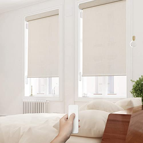 Deluxe Light Filtering Motorized Roller Shade with Cassette Valance, Battery Operated review