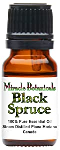 Miracle Botanicals Black Spruce Essential Oil - 100% Pure Picea Mariana - 10ml or 30ml Sizes - Therapeutic Grade - 10ml