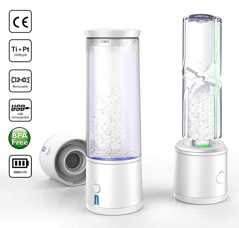 Hydrogen-rich water cup Tragbare Wasserflasche mit Wasserflasche mit Wasserhaushälfte, USB-Ladung und Glasflasche. Chlor und Ozonfreie Operation 2019 neu