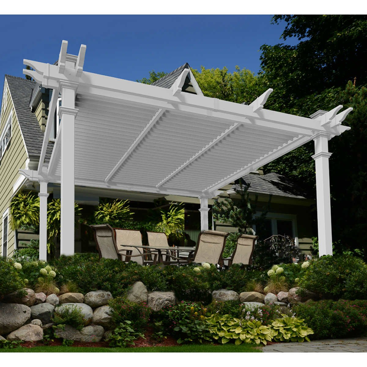 Amazing backyard gazebos that we can actually own for Terrace tubular design