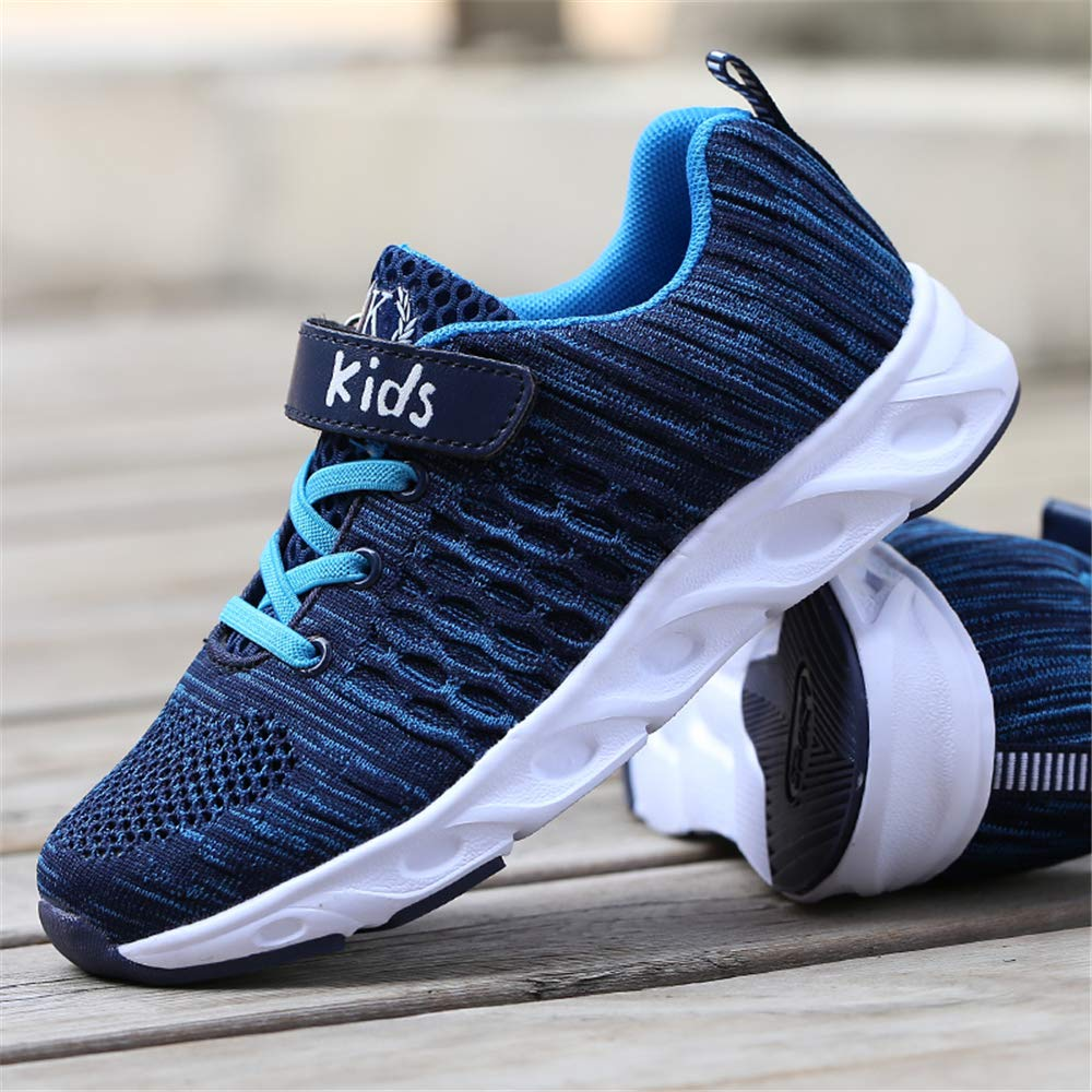 FZDX Boys Outdoor Sneakers Lightweight Flyknit Athletic Running Shoes Sports