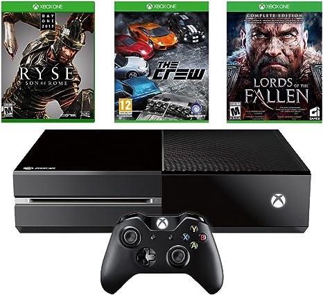 Microsoft 4743547 con 3 juegos de Xbox One, negro mate, 1 TB ...